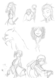 Sketches for the day (September 28) by MessatanienCarder