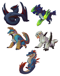 Mini Monsters Pack 1 by NyxDruid