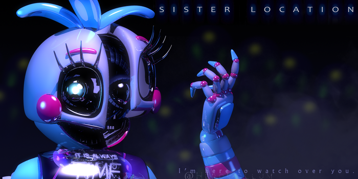 Funtime Chica Teaser Render (Fan-made) by HeroGollum