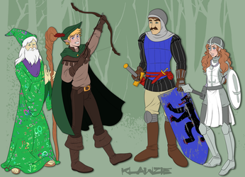 First Adventuring Party by klawzie