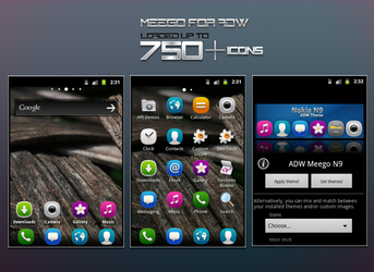 Meego Nokia N9 - ADW Theme Preview by hpluslabels