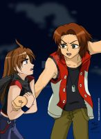 Masaru and Nyah-Stop it by Asphil