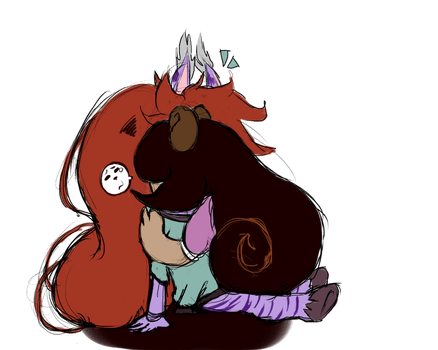 Hugs because Everything Is Terrible in the World by WingedMakayla
