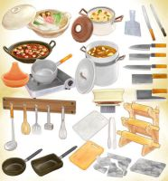 Cookware set MMD pack Download by Hack-Girl
