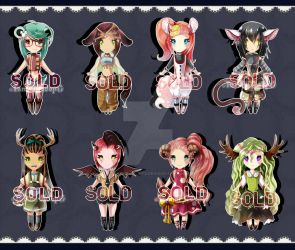 Chibi batch adopts #3 SET PRICE : CLOSED by Tammi-Adopts