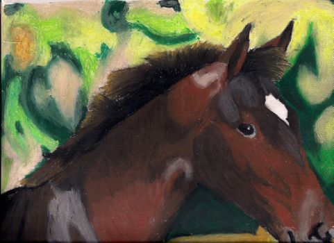 Horse Oil Pastel by horselvr88