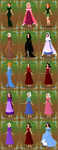 Robin Hood Characters from the Heroine Maker by BrainyxBat