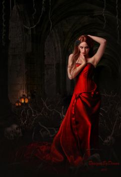 Lady in Red by DesignsByDiana