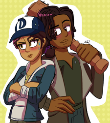Clem and Louis by NicoleDoodle64