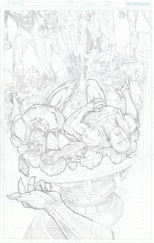 Jl 3001 #6 Cover Pencils by timothygreenII