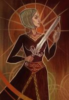 Girl with sword by Soulana
