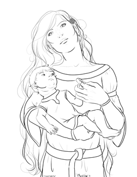 FemNorway and Baby Iceland by fablespinner