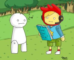 Pewdiepie and Cry - ScribbleNauts by Nami-chwann