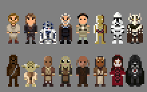 Star Wars Revenge of the Sith Characters 8 bit by LustriousCharming