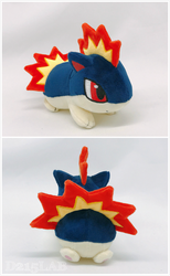 Quilava plush by d215lab