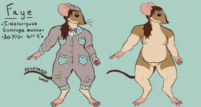 Faye the Indefatigable Galapogos Mouse by Rebelmechwolf