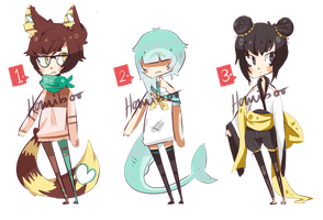 Adoptable Set 1 [AUCTION/CLOSED] by homiboo