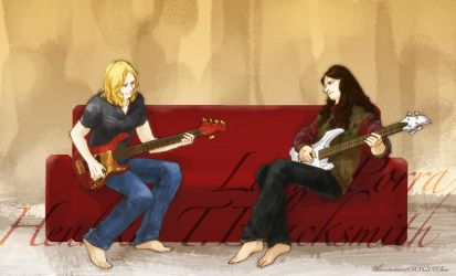 Two bassists by mt-blue-sos