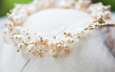 Bridal Lush Pearls Bracelet by OhKuol