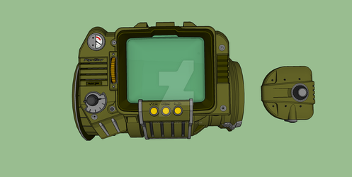 Pipboy Color 1 by SikKlownInk