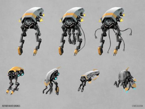 Repair Drone Concepts by mighty5cent