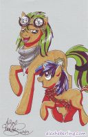 Sketch Card Commission for Starbuck by alex-heberling