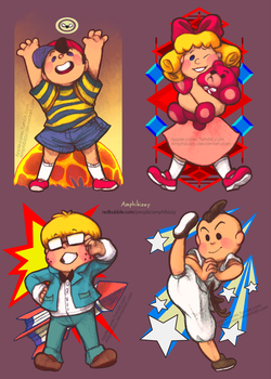 Earthbound Kids Set by Amphibizzy
