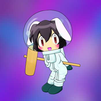 Tewi in spacesuit 2 by Nekomi4