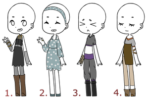 Outfit adopt batch #3{CLOSED} by SnarkyAdopts