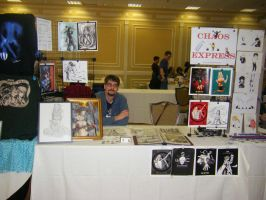 Our table at the convention by GreenGosselin