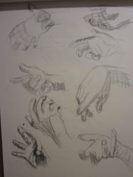 Hand quick Sketches by Jackolantern104