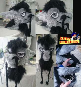 Commision - Slaider fursuit head by Keto-Schneider