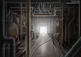 SCP Art: SCP-015 - Pipe nightmare by GamingHedgehog