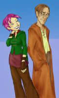 Tonks and Lupin by lia-fail