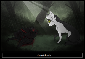I'm a friend .Coalpaw and Shallow. by CHAR-C0AL