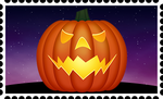 Halloween Stamp by RetroUniverseArt