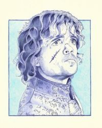 WIP Game Of Thrones , Tyrion Ballpoint Pen by Angeliqueperrin