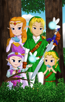 Ocarina of Time: Past and Future by Icy-Snowflakes