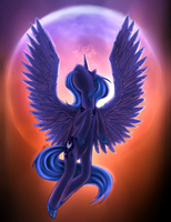 Moon rise - Princess Luna by sensum