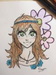 Anime Hippie Girl by ArtByRagan