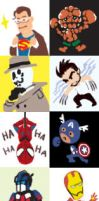 Comic characters in Movie by Sizin