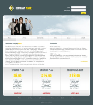 Hosting Company Template 3 by LemuriaDesign