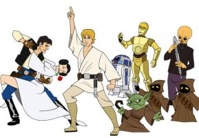 Star Wars Musical Characters by xanadu-jerm