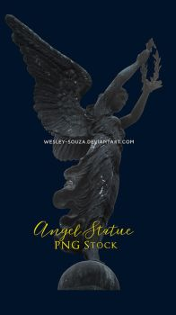 Angel Statue - PNG Stock by Wesley-Souza