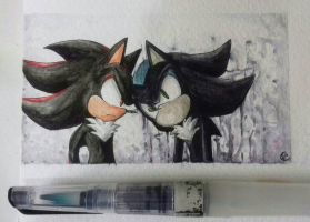 Shadow and Mephiles :3  by Tsubaki977