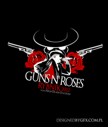 Guns N' Roses Rybnik 2012 t-shirt project by l24d