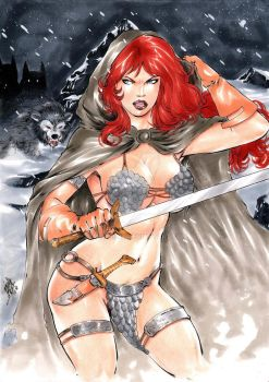 red sonja by laniosena