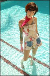 Anime Girl In Pool by D70ers