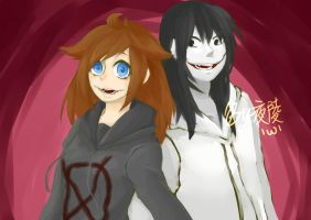 zebony the killer x Jeff the killer by karenx212001