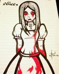 Alice Madness Returns Drawing by Lawrielle21
